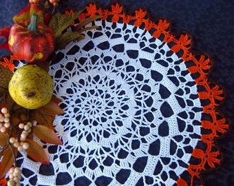 Fall crochet doily