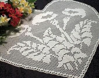 Giant Heart crochet Doily