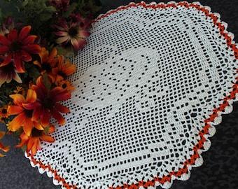 Crochet Pumpkin Doily