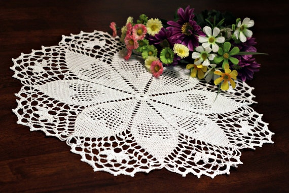 Hearts Crochet Doily 2