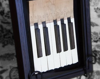 Piano Keys in shadow box
