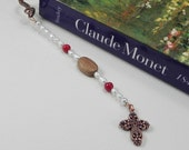 Bookmark with Cross and Olive Wood Beads