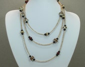 Lampwork Bead Necklace Long 61""