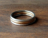 Handmade Silver/Gold Stacking Rings