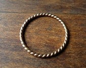 Twisted Gold Ring- Skinny Stacker