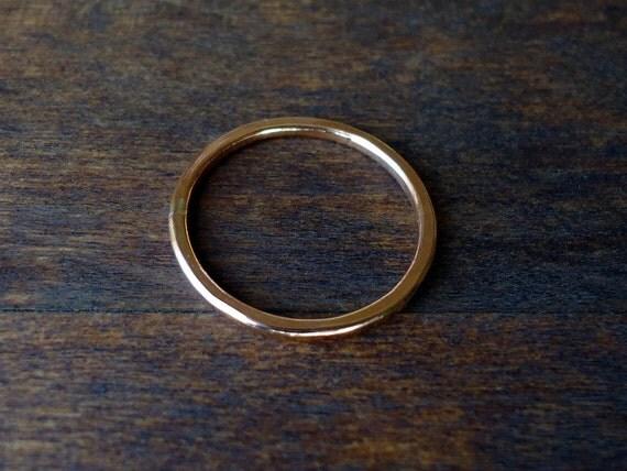 Simple Handmade Rose Gold Ring