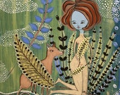 Amazing Print - Fern Garden - A Print by Jenny Mendes
