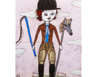 A Limited Edition Giclee - Betty - Giclee by Jenny Mendes