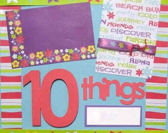 Scrapbooking Kit 2 Page Layout 12x12 Summer Vacation Premade