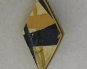 Reversible Recycled Skateboard Diamond Pendant