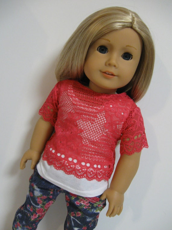American Girl Doll - Floral and Lace