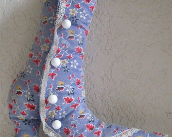 VICTORIAN LACE UP BOOT STYLE SHOE PILLOW CUSHION LACE THROW DECORATION