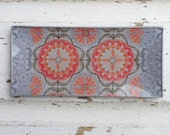 Decoupage Glass Tray Bohemian / Anthropology inspired
