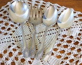 Vintage Silver Serving Pieces, Oneida Silverplate Queen Bess Serving Pieces