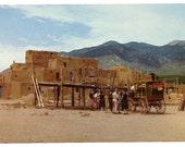Vintage Postcard, Taos Pueblo, New Mexico