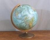 Vintage World Globe, Replogle World Ocean Series, 1949
