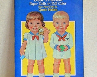 Paper Doll Book, Best Friends by Queen Holden, Uncut