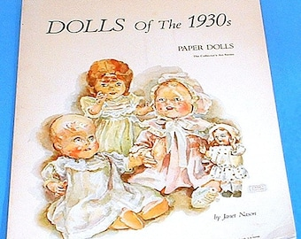 Paper Doll Book, Dolls of the 1930s by Janet Nason
