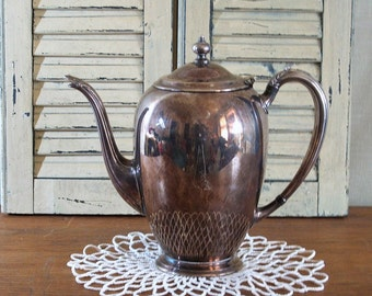 Vintage Silver Plate Serving, Silverplate Teapot or Coffee Server