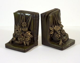 Vintage Plaster Bookends