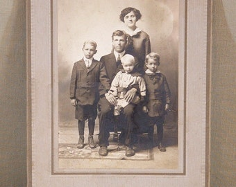 Vintage Studio Photograph, Family Photo