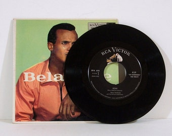 Vintage 45 RPM Record, Harry Belafonte, 1950s Music