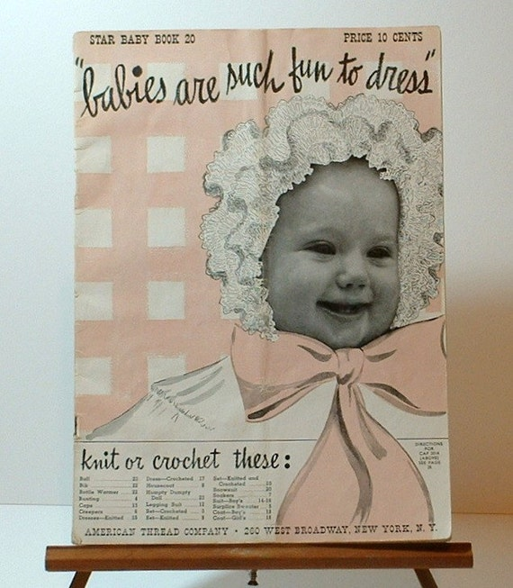 Vintage Baby Knitting Pattern Books : Vintage Knit and Crochet Pattern book Baby Clothes by ...