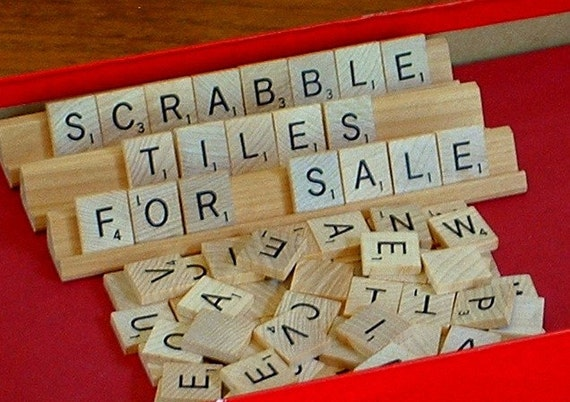 Scrabble Tiles, 50 Tiles for Crafting
