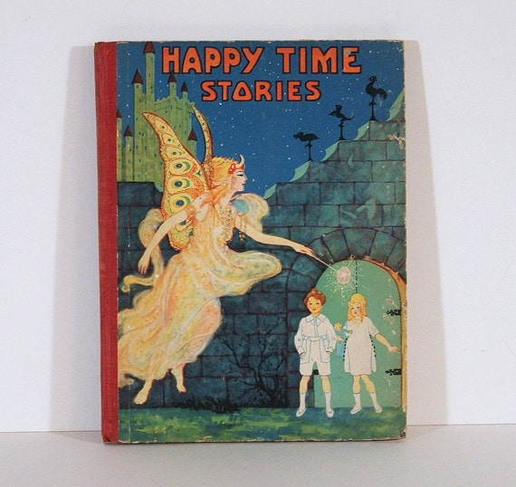 Antique Children's Book, Happy Time Stories, Animal Crackers, 1930