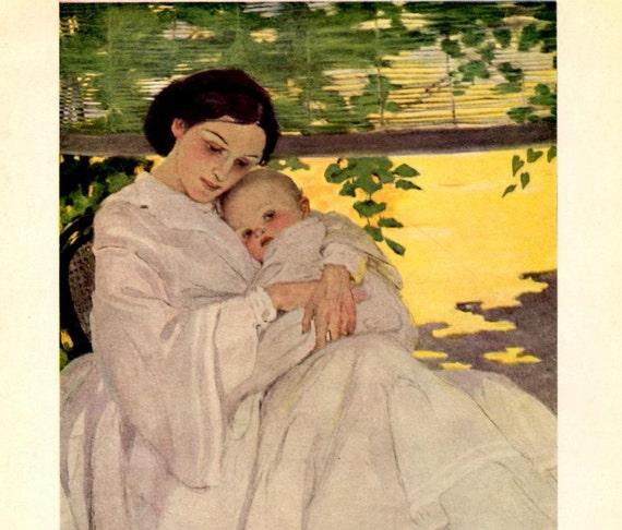 Vintage Print by Jessie Willcox Smith, 1910 Bòokplate