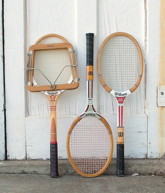 Vintage Tennis Rackets, Collection of Three