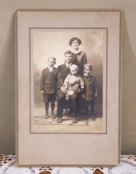 Vintage Studio Photograph, Family Photo