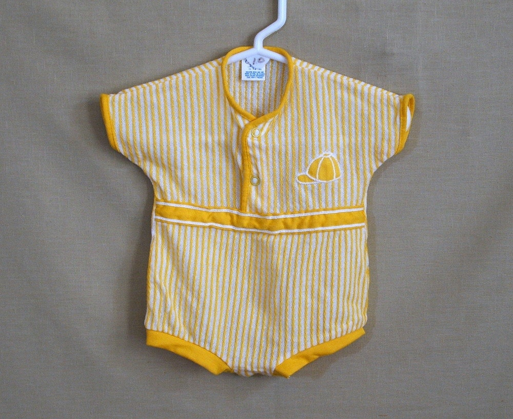Vintage Baby Clothes Carters Baby Boy e Piece Romper 3