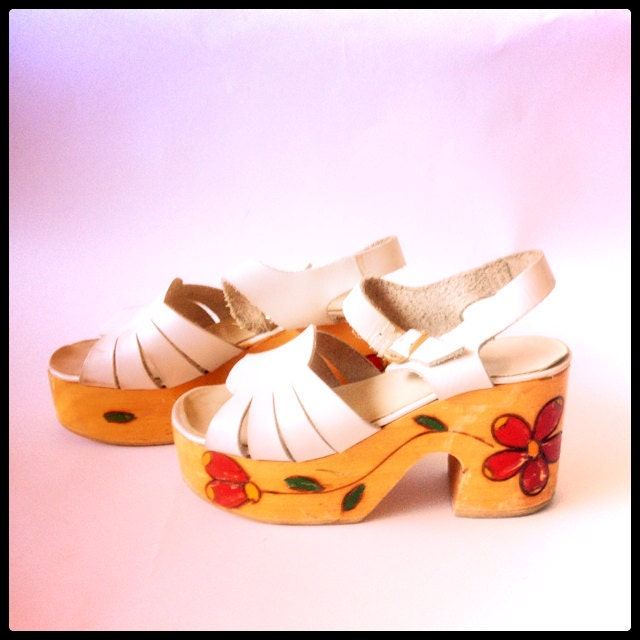 Hand Painted Sandals By Rare