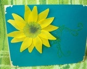 sunflower in the sky card