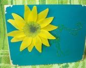 sunflower in the sky card