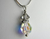 Reserved for Beckie- Ice and Smoke Swarovski Crystal Pendant