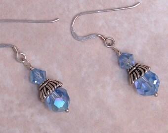 Reduced- Lt Sapphire Swarovski Crystal Earrings