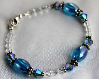 Girl's Blue Raspberry Jelly Bean Bracelet