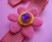 Pink Summer Flower Hair Clips