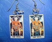 Tiny Tarot \/The Devil\/ - Universal Waite Earrings