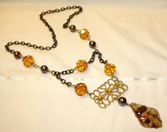 25% Off Vintage Crystal Chandelier Necklace OOAK