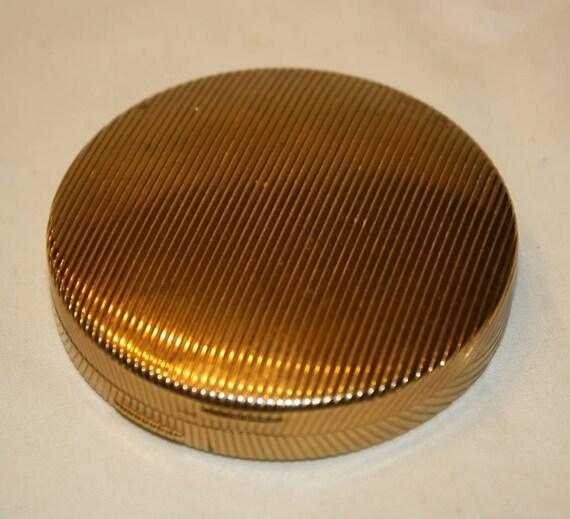 Vintage Round Brass Compact