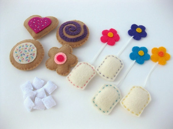 Time for Tea Playset - Includes cookies, tea bags, sugar cubes--MAKES A GREAT GIFT