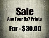 Fine Art Photography Prints - Any Four 5x7