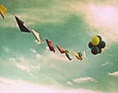 Balloon Photography - Red - Yellow - White - Blue - Summers Day Dreams 11x14 Print