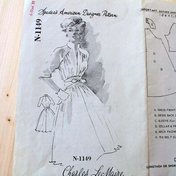 Vintage 1960s sewing pattern, Spadea size 10 Bust 34