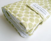 Lime Full Moon Dot Portable Baby Change Mat