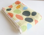 Colorful Trees Burp Cloth - Natural undyed cotton burp cloth