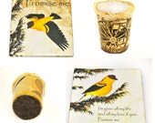 rezerverd listing for Mary SAVE - SAVE -promise me - One Tea light holder and two coasters for any home decor